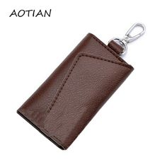 Coin Purses & Holders Clever Men Genuine Leather Car Key Case Holder Housekeeper Weave High Quality Real Cowhide Key Keychain Keyring Accessories Key Holder Luggage & Bags