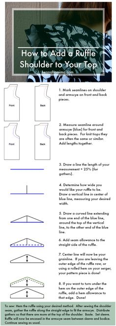 How to Add a Ruffle Shoulder to Your Top - Henna Hamima