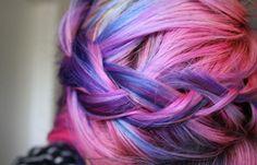 pink n purple hair braid