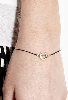 Karma Gold Horse Shoe Bracelet by Daisy Jewellery