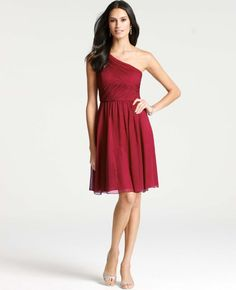 Silk Georgette One Shoulder Dress