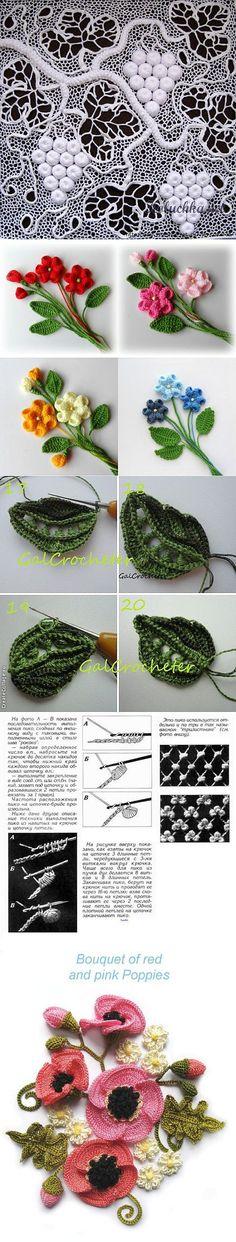 "Мотивы ирландского кружева. Подборка 12. | Ирландское кружево | Постила [   ""The motives of Irish lace. A selection of"",   ""Jewellery Lorina Balteanu, part 2 (traffic) / On the output / // Elena Sokolova"" ] #<br/> # #Crochet #Leaves,<br/> # #Crochet #Flowers,<br/> # #Irish #Lace,<br/> # #Irish #Crochet,<br/> # #Grounds,<br/> # #Cappuccinos,<br/> # #Photos,<br/> # #The #O"