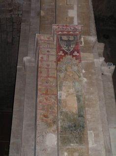 France, Drome, Saint Paul 3 Chateaux, Cathedrale, Peinture murale (5), Chevalier