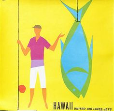 Hawaii - United Air Lines (Jets)