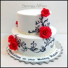 Red white and black wedding cake - Cake by Meenakshi Jamadagni