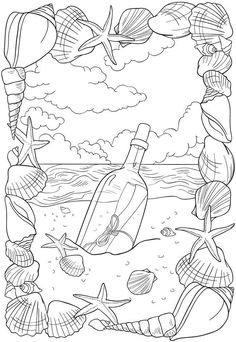 Colouring...message in a bottle