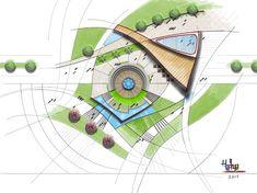 21 New Ideas For Landscape Design Plans Park Landscape Design Plans, Landscape Architecture Design, Architecture Plan, Design Exterior, Master Plan, Urban Planning, Urban Design, Planer, Public