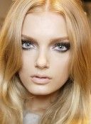 Love this look for fair skin and blonde hair - smokey eyes  nude lips