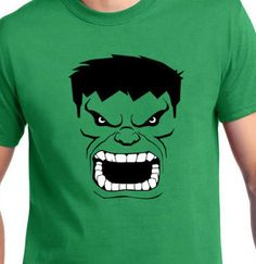 Avengers Incredible Hulk Face Cotton T-Shirt by AbruptDesign on Etsy https://www.etsy.com/listing/251390831/avengers-incredible-hulk-face-cotton-t