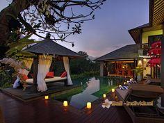 The Bale Tokek that offers four bedrooms villa in Canggu, Bali. http://www.individualbali.com/villas/bale-tokek