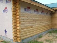 13 best faux log siding images on pinterest log home log cabin