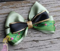 Anna hair bow Frozen hair bow Anna coronation by JaybeePepper, $9.00