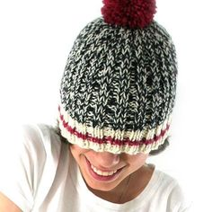 Sock Monkey Hat - Learn to Knit: Knitting Kit with DVD for curious knitters - soft merino wool - 5 colors Knitting Kits, Arm Knitting, Knitting Projects, Knitting Patterns, Crochet Patterns, Hat Patterns, Knitting Videos, Knitting Needles, Sock Monkey Pattern