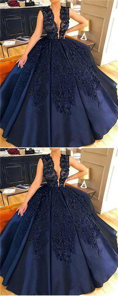 Ball Gown Jewel Court Train Sleeveless Navy Blue