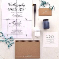 Calligraphy Starter Kit. I've ALWAYS wanted to learn how to write in calligraphy. A gift to myself, perhaps?