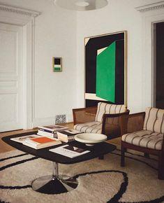 Colorful Interior Design, Best Interior Design, Contemporary Interior, Luxury Interior, Interior Design Inspiration, Room Inspiration, Pierre Jeanneret, Home Living, Living Room Decor