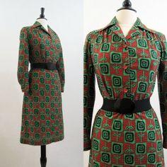 Art Nouveau Floral Oufit 70s Vintage Shirt Skirt by voguevintage, $25.00