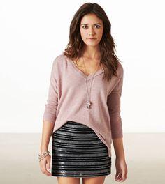 Sequin Striped Mini Skirt : Love it