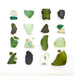 Green Sea Glass and Beach China by Jennifer Booher