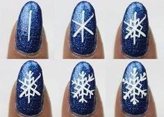 awesome 15 + Easy Step By Step Winter Nail Art Tutorials For Beginners 2016