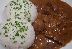 Játrová omáčka - kořeněná a rychlá Food 52, Risotto, Mashed Potatoes, Food And Drink, Menu, Chicken, Cooking, Ethnic Recipes, Cap Cake