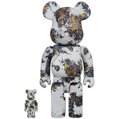 Jackson Pollock Studio Splash 100% + 400% Bearbrick Set (FEB2021) #jackonpollock #splash #bearbrick #medicom #pollock #bearbrick400 #jacksonpollockstudio #collectible #toy #designertoy #vinyltoy #arttoy #instagood #beautiful #love #art #fashion #new Jackson Pollock Artwork, Mastermind Japan, Pokemon Charizard, Artist Branding, La Colors, Astro Boy, Action Painting, Vinyl Toys, Mickey Minnie Mouse
