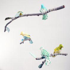 Custom+5+Bird+Mobile+for+Baby+Nursery+Decor++modern+door+BabyJivesCo,+$168.00