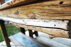 Rustic Driftwood Kitchen Island and Bench. I found this wood on the beach after a Tropical Storm washed it up. Driftwood Kitchen, Rustic Kitchen Island, Kitchen Islands, Diy Furniture Projects, Pallet Furniture, Outdoor Furniture, Outdoor Decor, Recycled Kitchen, Corrugated Metal