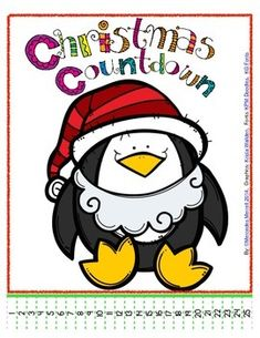 "This+""Simple+Christmas+Countdown+Freebie!""+is+exactly+that,+SIMPLE+and+FREE!++There+are+3+different+(super+cute)+penguin+pages,+each+in+color+and+black+and+white+for+you+to+use+as+classroom+piece,+or+have+the+students+make+and+color+their+own.++Each+page+has+the+penguin+""impersonating""+an+elf,+Santa,+and+Holiday+Spirit!"