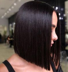 Short-Straight-Bob-Black-Hair Short Straight Hairstyles 2019 - New Hair Styles Short Black Hairstyles, Short Hair Cuts, Short Hair Styles Black, Trending Hairstyles, Braided Hairstyles, Hairstyles 2018, Medieval Hairstyles, Undercut Hairstyles, 1920s Hairstyles