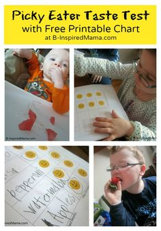 Picky Eater Taste Test with Free Printable Chart - get those picky eaters to try some new foods