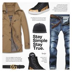 """""""Rosegal"""" by novalikarida ❤ liked on Polyvore featuring Gucci, Stussy, men's fashion and menswear"""