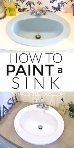 Update An Old Bathroom Sink On A Budget With Paint No Plumbing Required And Full Tutorial On Transforming Your Ou Painting A Sink Remodeling Hacks Diy Remodel
