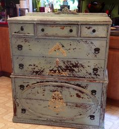 Gorgeous Shabby Chic Dresser by RoyaleFunkyJunque on Etsy, $350.00