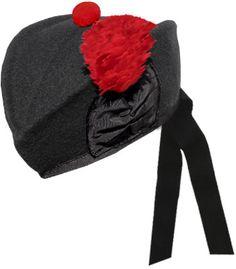 914e4c56842d8 Black Glengarry Hat Scottish Gifts