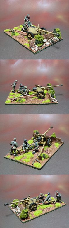 Waffen SS PaK40 AT Gun Team Scale: 1/56(28mm) Manufacturer: Warlord Games UK Game: BOLT ACTION Painted by: OMP(Olsianon Miniatures Painting)