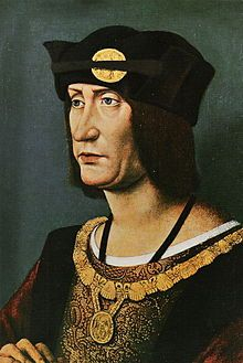 Louis XII, the Father of the People (1462 - 1515). King of France from 1498 to 1515. He married Joan of France, but divorce her to marry Anne of Brittany, who he had two daughters with. After her death he married Mary Tudor, but died a few months later. He was very active in foreign policy.