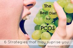 Natural treatments for PCOS (Polycystic Ovary Syndrome) can be very effective and among them is eating the right diet for this condition. Take a look at what the best diet for PCOS looks like (and why) - including some strategies that may surprise you. Best Diet For Pcos, Pcos Diet, Diabetes Diet, Pcos Food, Aip Diet, Treatment For Pcos, Hair Loss Treatment, Pcos Hair Loss, Pcos Infertility