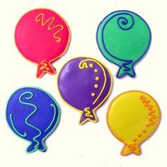 fancy balloon cookies