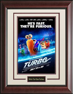 Turbo Framed Movie Poster   Official, Movie Poster, Posters