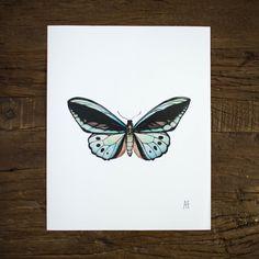 Alexzandra Fajardo Turquoise Butterfly Print