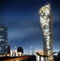 inspiration from the Flatiron Building in New York City, Danish Architecture fim BIG have unveiled their proposal for a 490 ft high skyscraper in downtown Vancouver. Vancouver House, Vancouver Real Estate, Downtown Vancouver, Vancouver Beach, Vancouver Skyline, Vancouver Apartment, North Vancouver, World Architecture Festival, Amazing Architecture