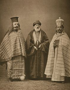 19th century, Turkish Mullah with Armenian & Greek Priests