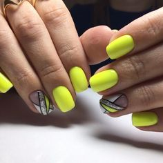 Bright summer nails Drawings on nails Geometric nails Painted nail designs Picture on nails by gel polish Spring nail art Spring nails 2018 Vivid nails Bright Summer Nails, Spring Nails, Summer Colors, Colorful Nail Designs, Best Nail Art Designs, Almond Nails Designs, Geometric Nail, Yellow Nails, Nagel Gel