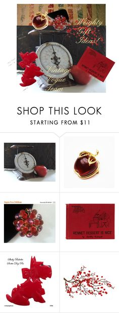 """""""Weighty Gift Ideas!"""" by plumsandhoneyvintage ❤ liked on Polyvore featuring Brewster Home Fashions and vintage"""