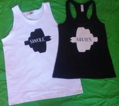 Hey, I found this really awesome Etsy listing at https://www.etsy.com/listing/179262195/swole-mates-couples-tank-top-black-and