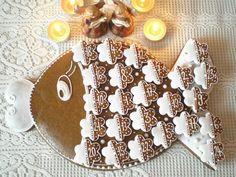 Hit letošních Vánoc: perníkový adventní kalendář - Modrý koník Creative Lettering, Cookie Decorating, Gingerbread Cookies, Fondant, Christmas Diy, Food And Drink, Baking, Holiday Decor, Sweet