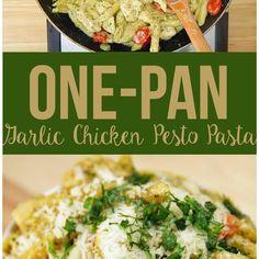 Try This One-Pan Garlic Chicken Pesto Pasta Dish For Dinner One Night This Week