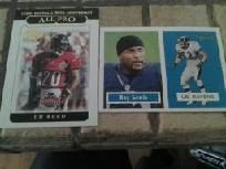 6 baltimore ravens football cards ray lewis/ed reed/ray rice rookie card.