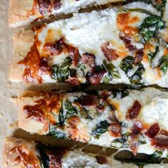 White Pizza With Spinach and Bacon  - Redbook.com